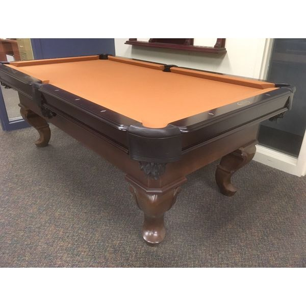 3.5 x 7 foot Palason Patricia showroom floor model demonstrator pool table with ball and claw legs - pic1