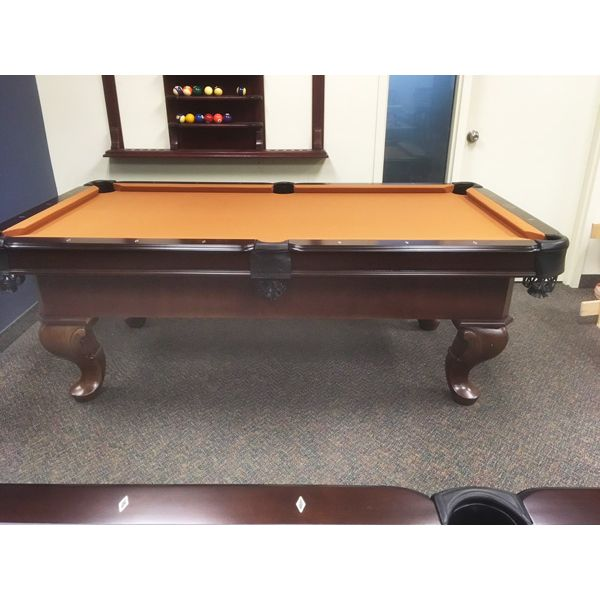 3.5 x 7 foot Palason Patricia showroom floor model demonstrator pool table with ball and claw legs - pic2