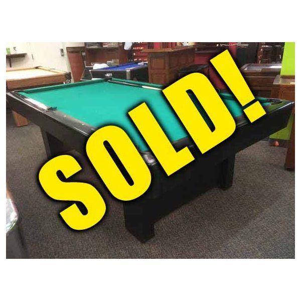 8 x 4 foot Brunswick Billiards Bristol used black pool table - image 1