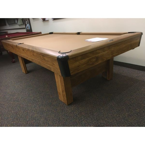 Brunswick Billiards Bristol II used pool 8 x 4 foot pool table with real slate, 1 year warranty and brand new accessory kit - Image 1
