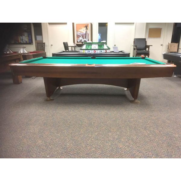 Brunswick Gold Crown 9 foot used classic vintage antique slate pool table  - Side view