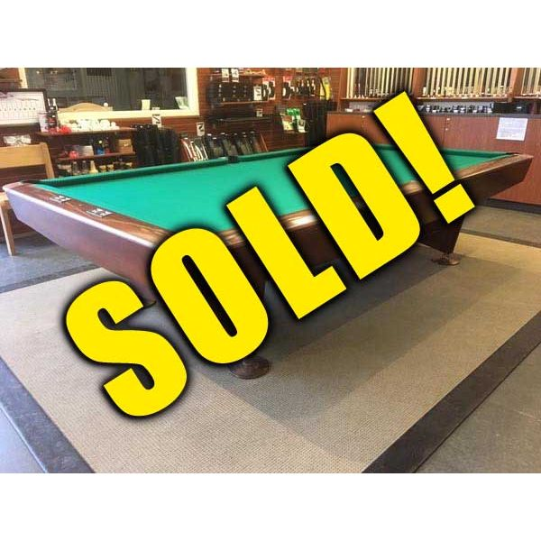 Used snooker table rare 10 x 5 Gold Crown model made by Brunswick