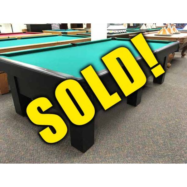 Used Canada Billiard brand Black Beauty 9 x 4½ foot pool table with 6 legs - 1
