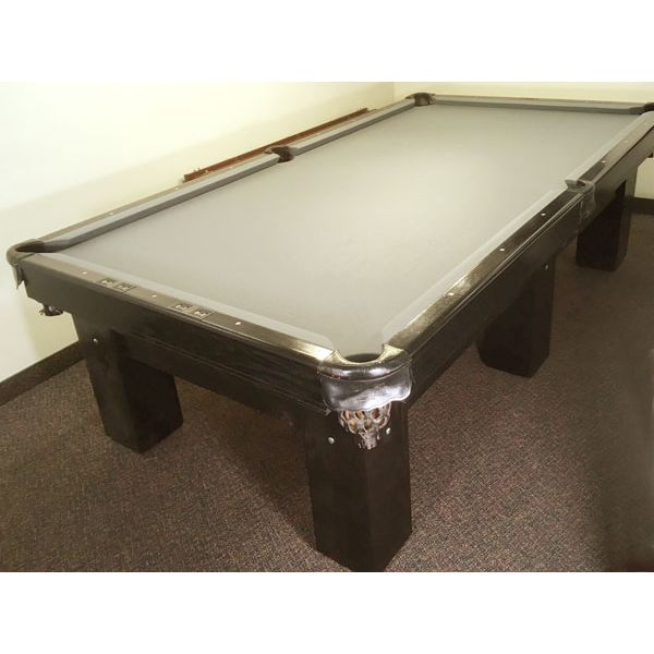 Used 6 leg Canada Billiard Anniversary competition format 4½ x 9 foot pool table with genuine slate and leather pockets - pic 1