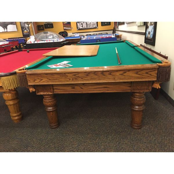 Used antique Canada Billiard rare format 9 x 4½ foot Snooker table - pic2