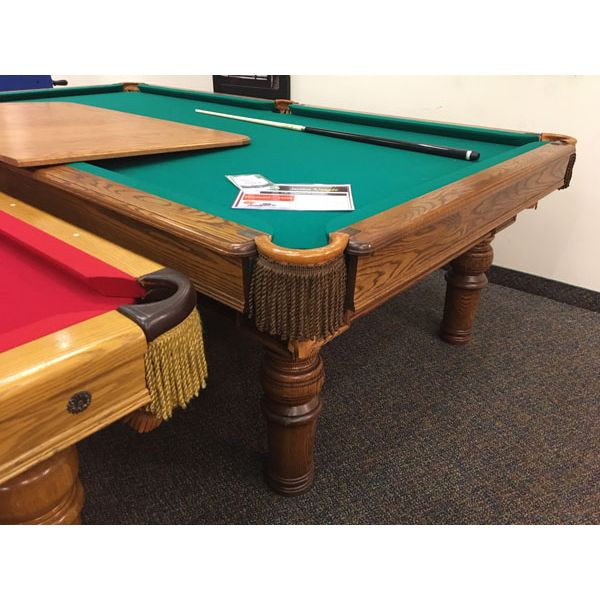 Used antique Canada Billiard rare format 9 x 4½ foot Snooker table