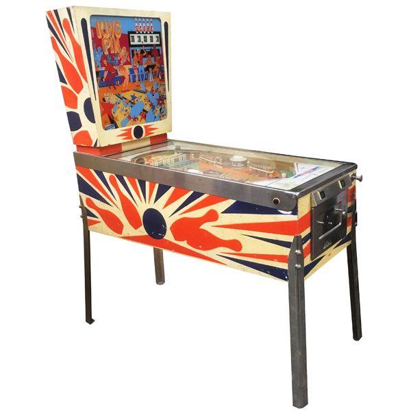 Rare antique vintage EM Gottlieb King Pin 1973 flipper arcade pinball machine - pic1
