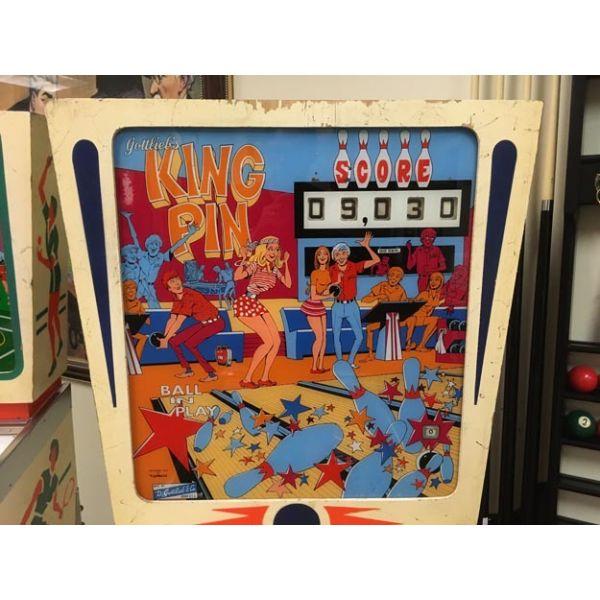 Rare antique vintage EM Gottlieb King Pin 1973 flipper arcade pinball machine - pic2