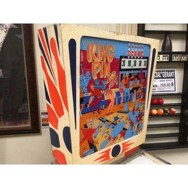 Rare antique vintage EM Gottlieb King Pin 1973 flipper arcade pinball machine - pic3