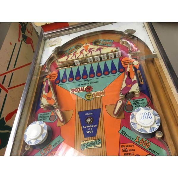 Rare antique vintage EM Gottlieb King Pin 1973 flipper arcade pinball machine - pic6