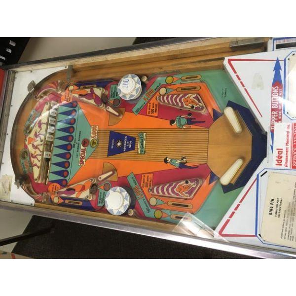 Rare antique vintage EM Gottlieb King Pin 1973 flipper arcade pinball machine - pic8