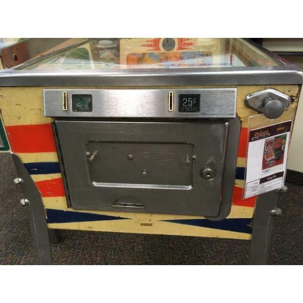 Rare antique vintage EM Gottlieb King Pin 1973 flipper arcade pinball machine - pic9