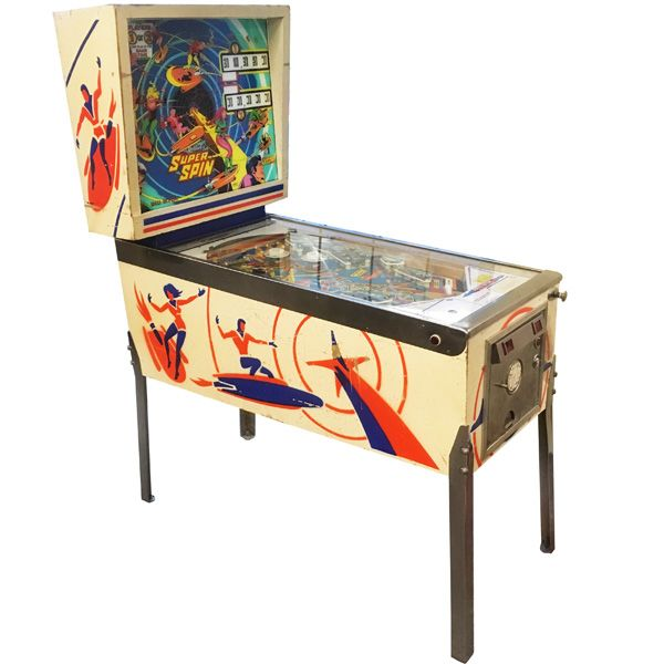 Gottlieb Super Spin pinball machine 1977 classic rare antique in very good condition - image