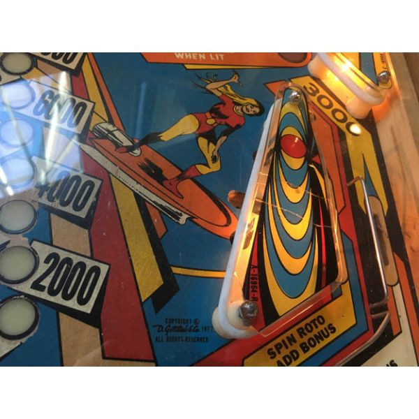 Gottlieb Super Spin pinball machine 1977 classic rare antique in very good condition - image 6