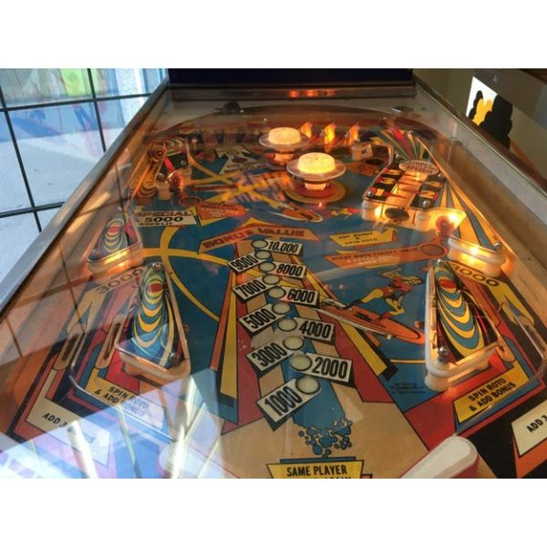 Gottlieb Super Spin pinball machine 1977 classic rare antique in very good condition - image 7