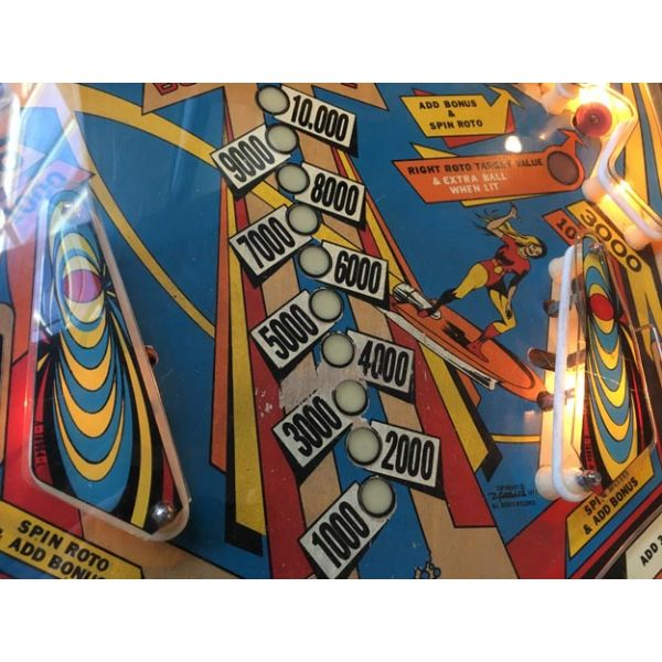 Gottlieb Super Spin pinball machine 1977 classic rare antique in very good condition - image 5
