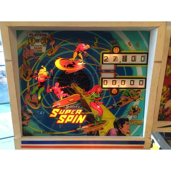 Gottlieb Super Spin pinball machine 1977 classic rare antique in very good condition - image 2