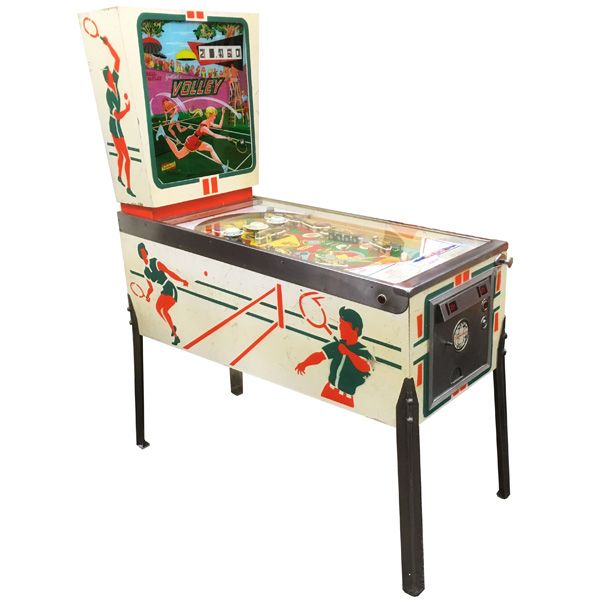 Very rare antique pinball retro EM electro-mecanical flipper arcade game Gottlieb Volley from 1976 - images 1