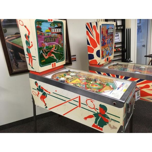 Very rare antique pinball retro EM electro-mecanical flipper arcade game Gottlieb Volley from 1976 - images 2