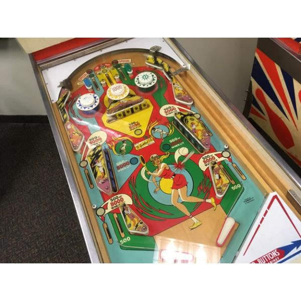 Very rare antique pinball retro EM electro-mecanical flipper arcade game Gottlieb Volley from 1976 - images 4