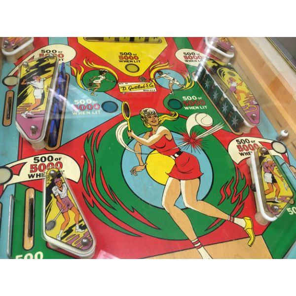 Very rare antique pinball retro EM electro-mecanical flipper arcade game Gottlieb Volley from 1976 - images 5