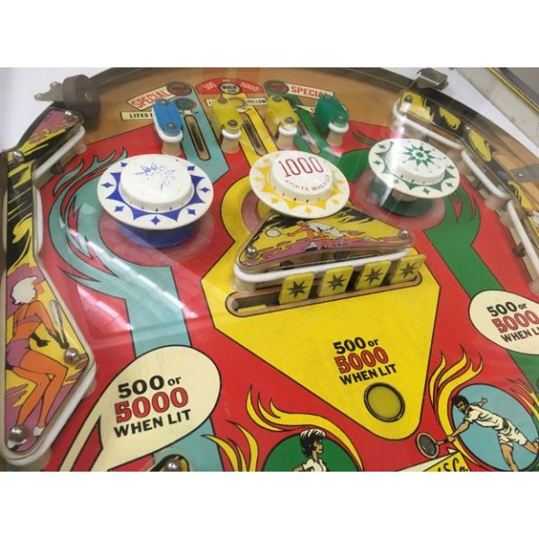 Very rare antique pinball retro EM electro-mecanical flipper arcade game Gottlieb Volley from 1976 - images 6