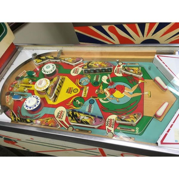 Very rare antique pinball retro EM electro-mecanical flipper arcade game Gottlieb Volley from 1976 - images 8