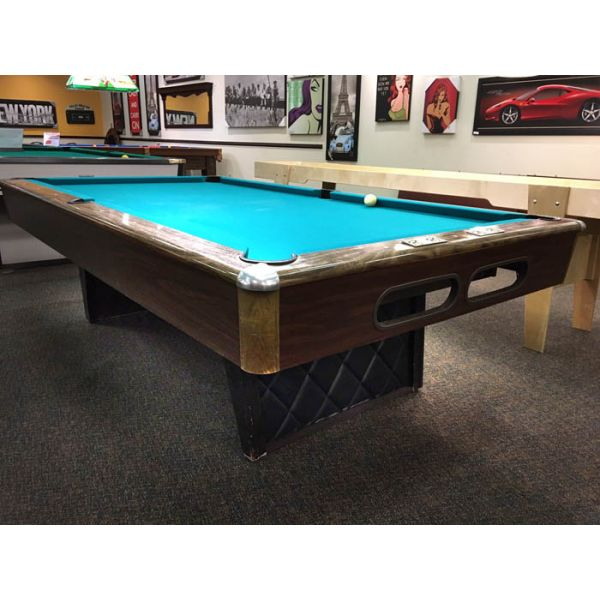 Used Minnesota Fats 4 x 8 pool table with real slate and Arborite finish top rails - Pic1