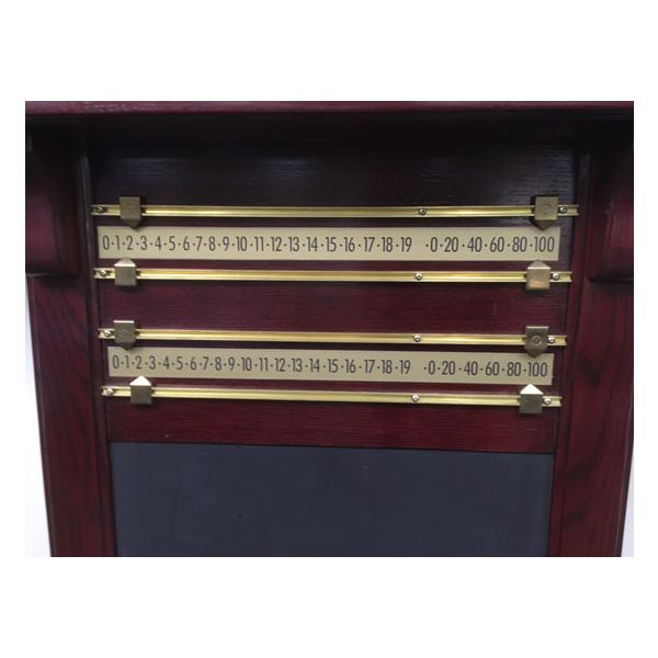 Large billiard cue and pool table accessories wall rack - 4