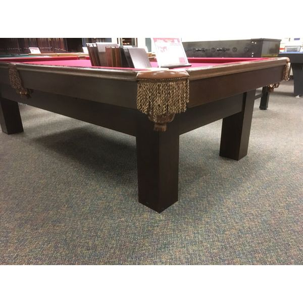 Used premium quality 9 x 4-1/2 foot Palason Deluxe second hand pool table with real slate and genuine leather pockets - Image 2