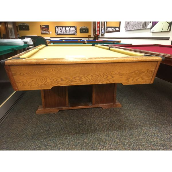 Used pool table in 8 x 4 format with real slate and snooker pockets - Image 2