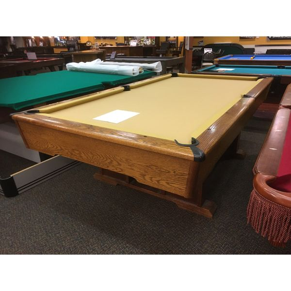 Used pool table in 8 x 4 format with real slate and snooker pockets - Image 1