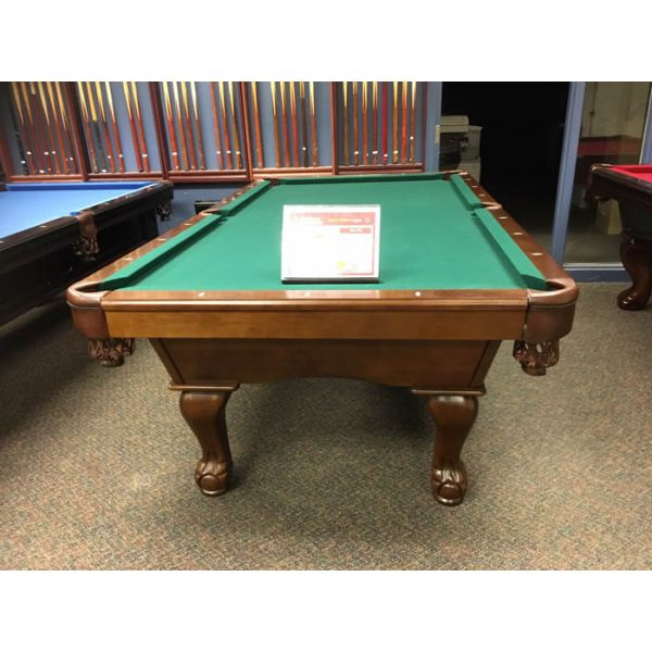 Demonstrator floor model 8 x 4 foot slate pool table with hard wood carved ball and claw legs - Picture 2